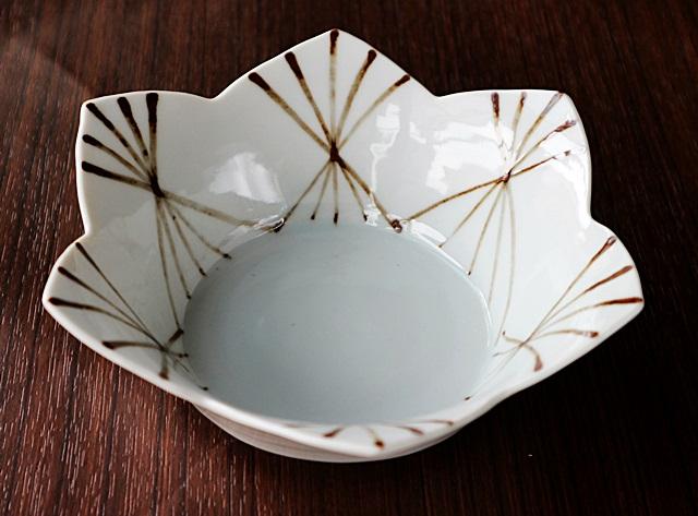 九谷青窯 中鉢 鉄絵結晶花型鉢