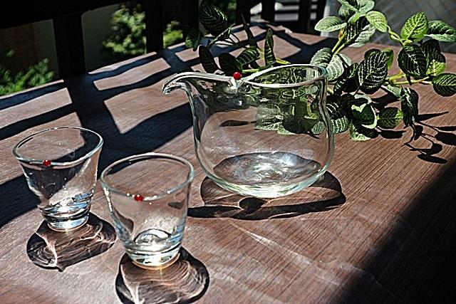 原光弘  ガラス 冷酒器揃え 吹きガラス