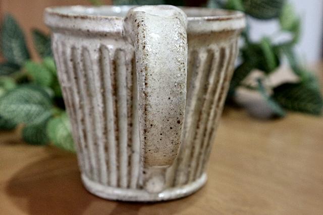 マグカップ 益子焼 陶器 粉ひき