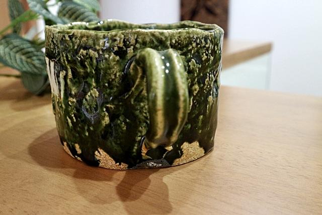 榛澤宏 織部 スープカップ