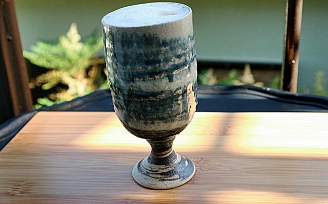 フリーカップ ゴブレット ビヤカップ 陶器 信楽焼