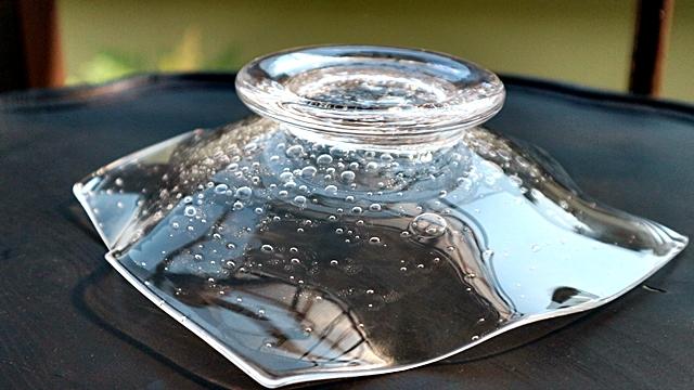 ガラス皿 高山浩子 吹きガラス